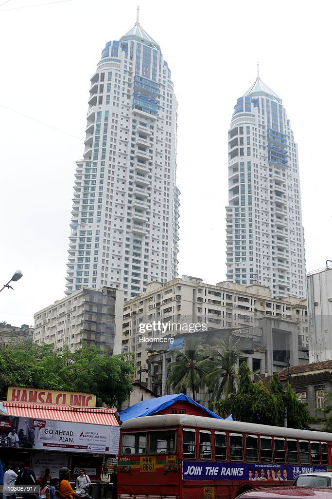 Towers rise into mumbais skyline photos and images getty images the imperial residential towers rise over slum rehabilitated buildings front in the tardeo area altavistaventures Choice Image
