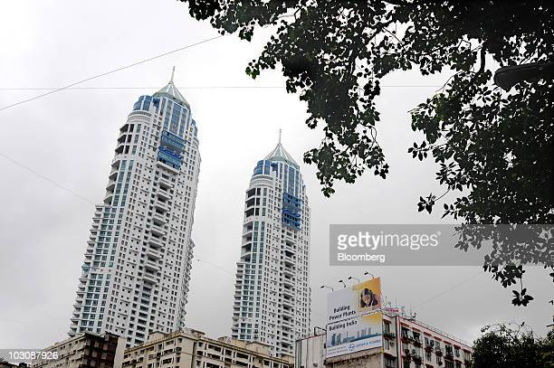 The Imperial residential towers rise over the Tardeo area of Mumbai India on Monday July 21 2010 Prices are rising in India as its record 84 percent...