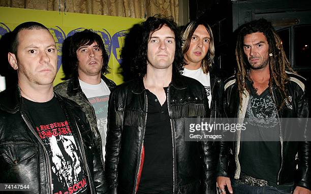 The Imperial Vipers arrive at the Ibiza Rocks with Sony Ericsson launch party at The Lock Tavern Camden on May 14 2007 in London England The music...