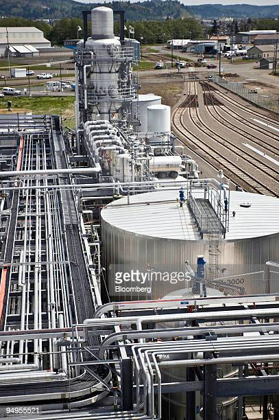 The Imperium Grays Harbor LLC biodiesel plant stands in Aberdeen, Washington, U.S., on Friday, May 15, 2009. The plant, opened in August 2007, is...