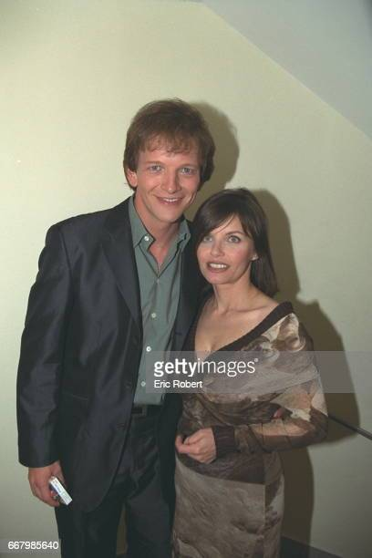 The impersonator AndrePhilippe Gagnon and singer Diane Tell from Quebec