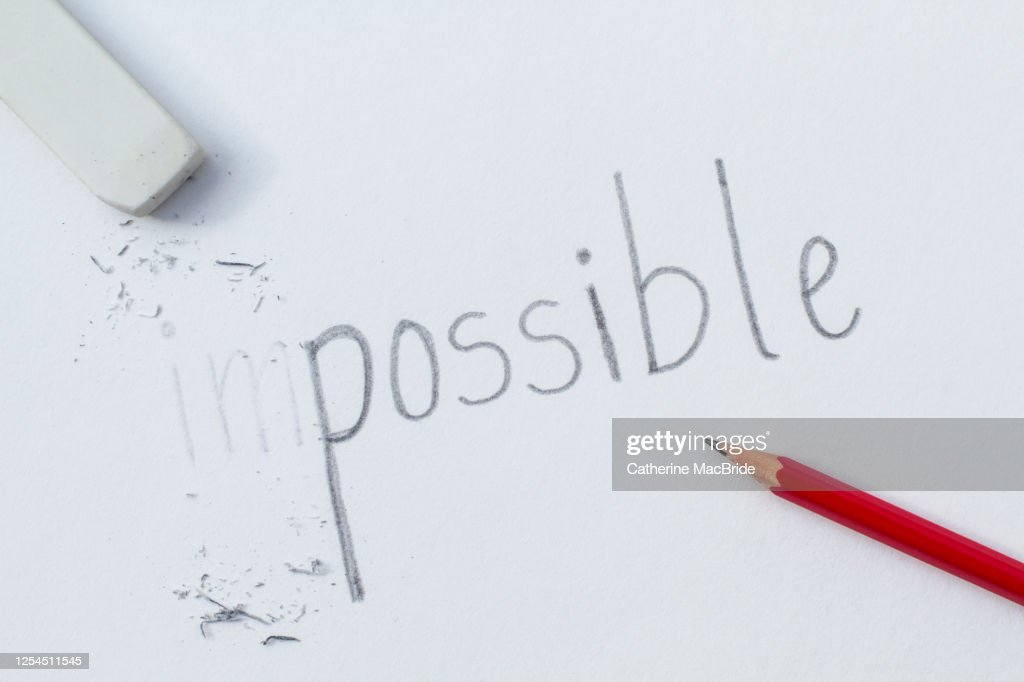 The impossible becomes possible : Stock Photo