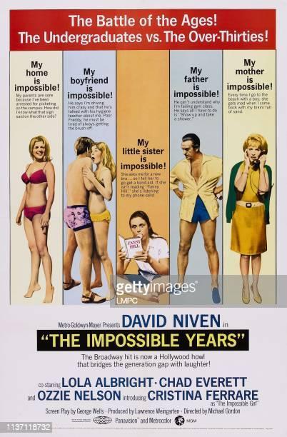 Cristina Ferrare Darleen Carr David Niven Lola Albright on poster art 1968