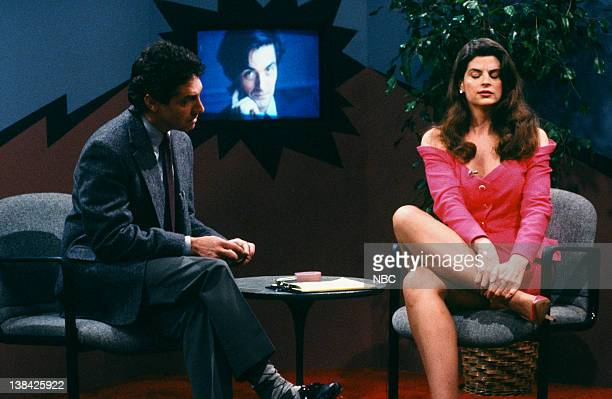 CHEERS 'The Improbable Dream Part 2' Episode 2 Air Date Pictured Roger Rees as Robin Colcord Kirstie Alley as Rebecca Howe