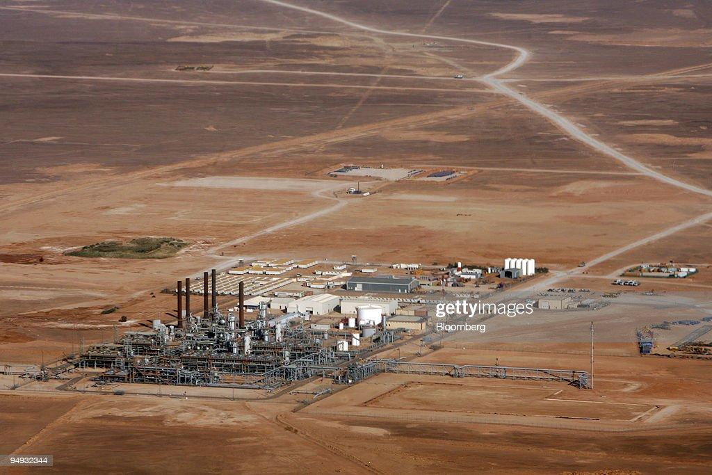 The In Salah Gas (ISG) Krechba Project, run by Sonatrach, Br : News Photo
