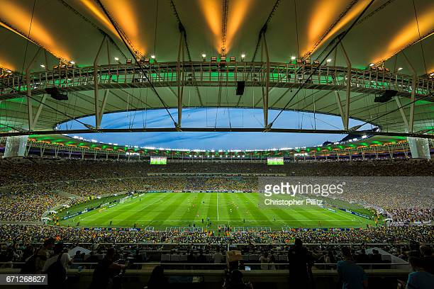 The inaugural international match between Brazil and England sees the reborn and completely refurbished Maracana stadium at a cost of U$S 500 million...