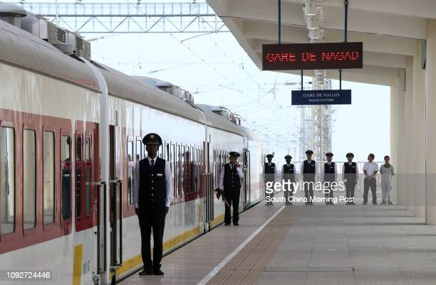 The inauguration ceremony of the Djibouti - Addis Ababa Railway at Gare De Nagad Station. The railway is supported by China Civil Engineering...