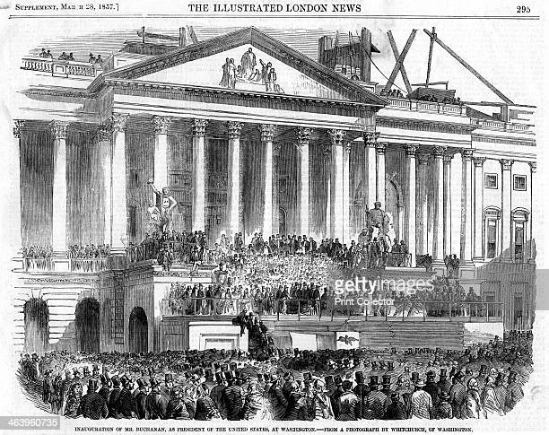 The inauguration of James Buchanan as President Washington 1857 James Buchanan was the fifteenth President of the United States serving office...