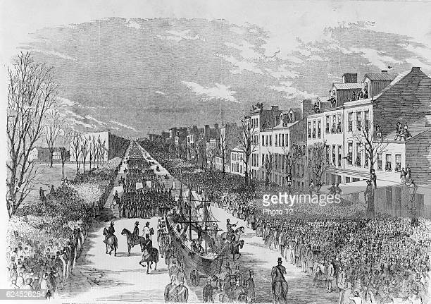 The Inauguration Procession in Honor of President James Buchanan 1857 Wood engraving