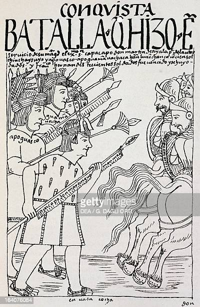 The Inca laying siege on Cuzco which was under conquistador occupation Peru engraving from The first new chronicle and good government by Felipe...