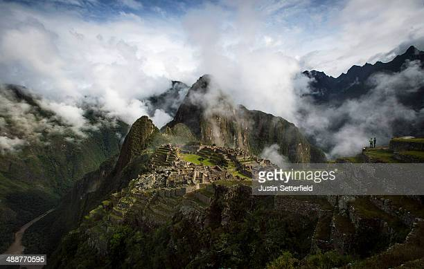 The Inca ruins of the Machu Picchu sanctuary on January 18 2014 near Cusco Peru The 15thcentury Inca site MachuPicchu also known as 'The Lost City of...