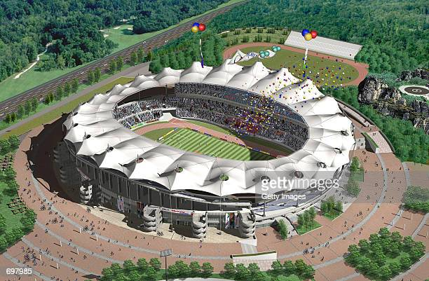 The Incheon 2002 Federation Internationale de Football Association World Cup stadium is shown February 5 2002 28km west of Seoul South Korea The...