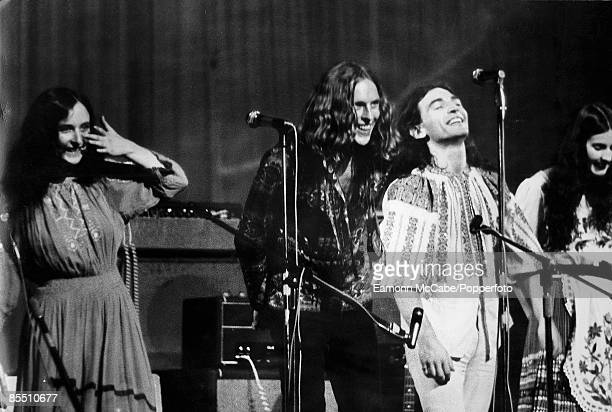 The Incredible String band perform live on stage at the Fillmore West in San Francisco United States in 1969 the members of the group are from left...