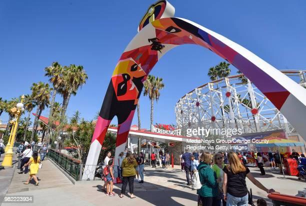 The Incredicoaster at Disney California Adventure Park in Anaheim CA on Thursday June 21 2018