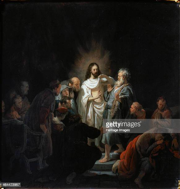 'The Incredulity of Saint Thomas' 1634 Rembrandt van Rhijn Found in the collection of the State A Pushkin Museum of Fine Arts Moscow