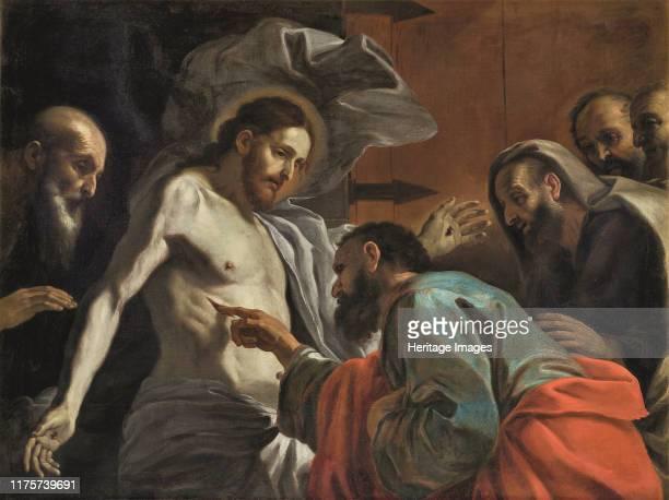 The Incredulity of Saint Thomas, circa 1675. Found in the Collection of MUZA, Muzew Nazzjonali tal-Arti, Valletta, . Artist Preti, Mattia .
