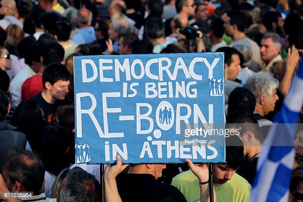 The independent and spontaneous movement of quotIndignant Greeksquot maintains its dynamics with tens of thousands of people demonstrating again in...