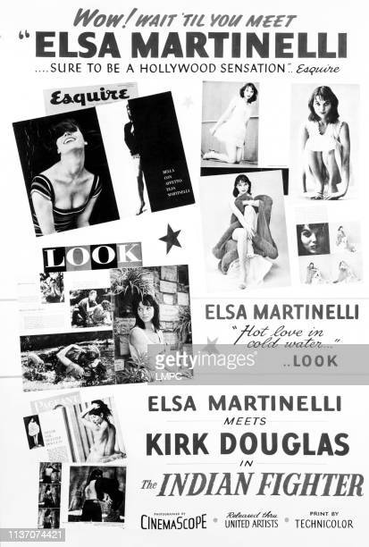 The Indian Fighter poster Elsa Martinelli poster art 1955