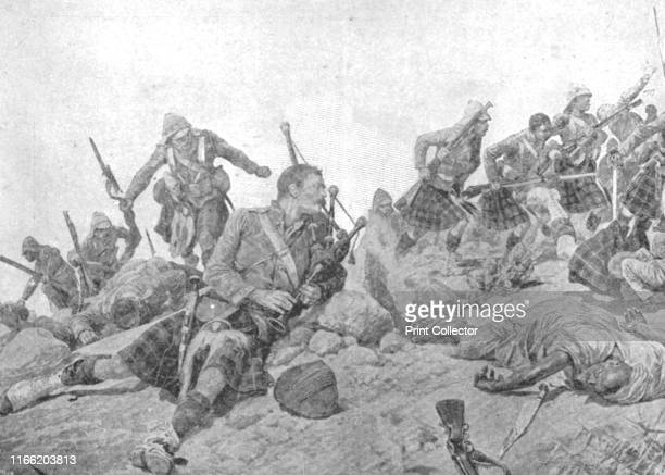 The Storming of the Dargai Ridge by the Gordon Highlanders October 20' Fighting between British troops and Afridi tribesmen on the NorthWest Frontier...