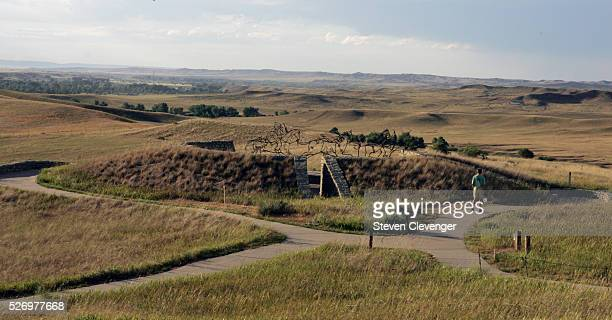 The Indian Memorial dedicated in 2003 and finished in 2013 The earthwork is carved into the prairie 75 yards from the 7th cavalry monument The...