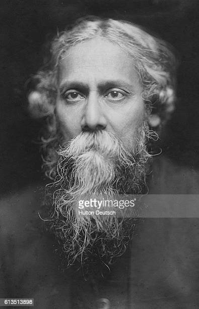 The Indian poet and philosopher Rabindranath Tagore ca 19101930