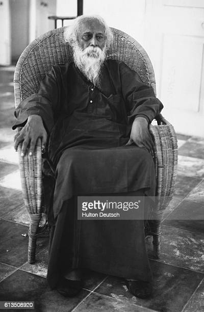 The Indian poet and philosopher Rabindranath Tagore ca 1940 who recently celebrated his eightieth birthday Oxford University have decided to confer a...