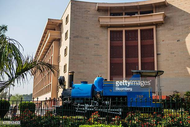 The Indian Railways headquarters building stands in New Delhi India on Saturday March 8 2014 India will start voting next month to determine if Prime...