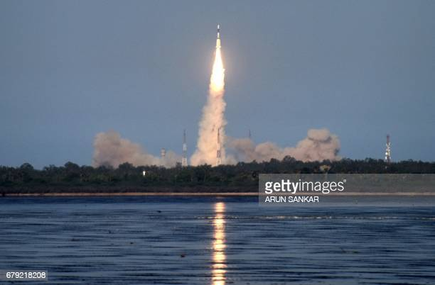 The Indian Space Research Organisation's GSAT9 on board the Geosynchronous Satellite Launch Vehicle launches in Sriharikota in the state of Andhra...