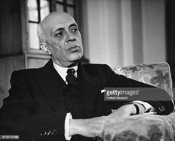 The Indian statesman Pandit Nehru during an interview with the Picture Post magazine