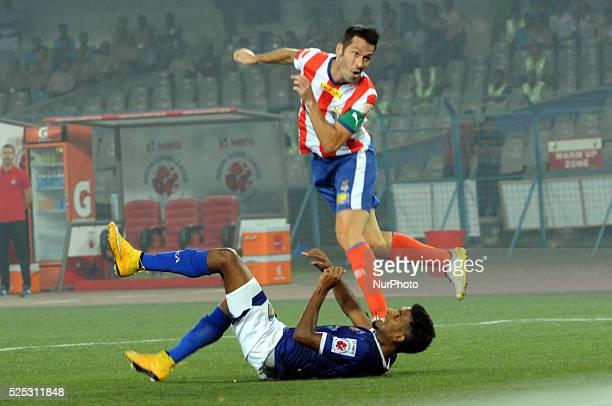 Atl��tico de Kolkata vs Chennaiyin FC in Salt Lake Stadium on November 142014 in KolkataIndia