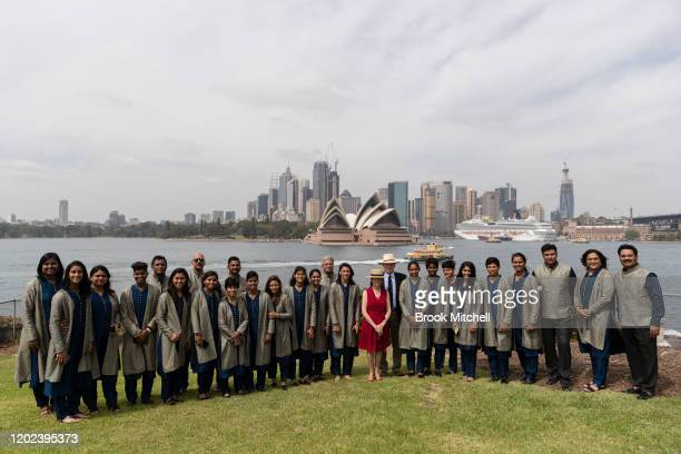 The Indian Women's cricket team is pictured at Kirribilli House with the GovernorGeneral David Hurley and Linda Hurley during the Governor General's...