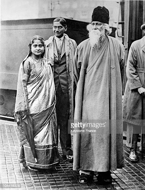 The Indian writer Rabindranath Tagore who won the Nobel Prize for Literature in 1913