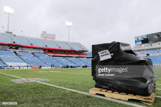 The Indianapolis Colts heaters before a game against the Buffalo Bills on December 10 2017 at New Era Field in Orchard Park New York