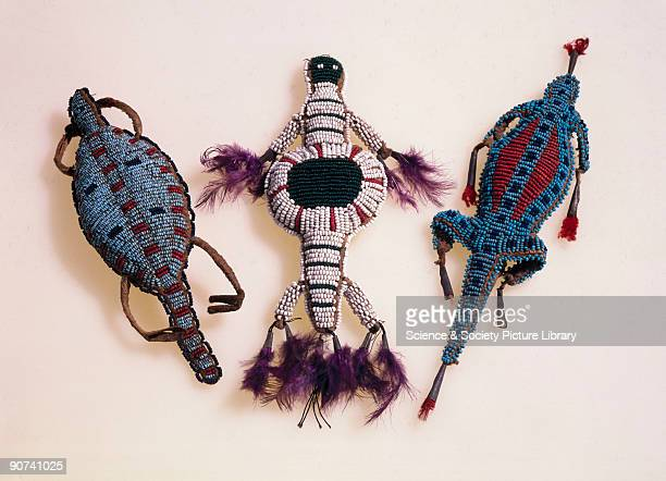 The Indians of the Great Plains used these beaded amulets for protection When a child was born a relative would make an amulet A turtle was made for...