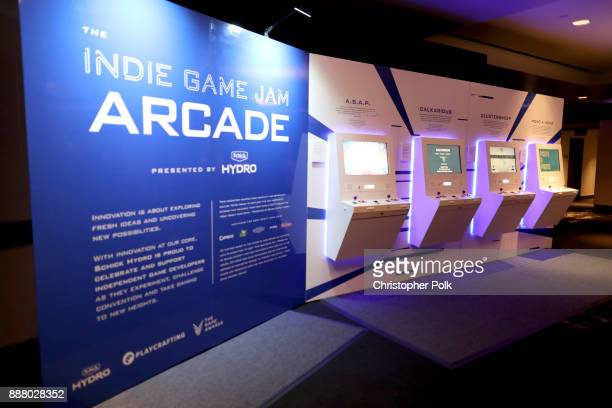 The 'Indie Game Jam Arcade Presented by Schick Hydro' at The Game Awards 2017 at Microsoft Theater on December 7 2017 in Los Angeles California