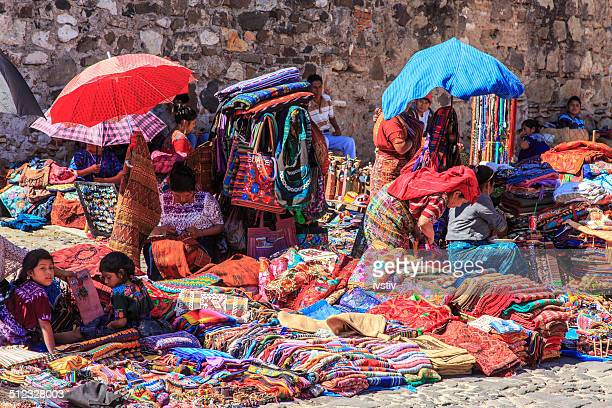 the indigenous people of antigua, guatemala - mayan people stock photos and pictures