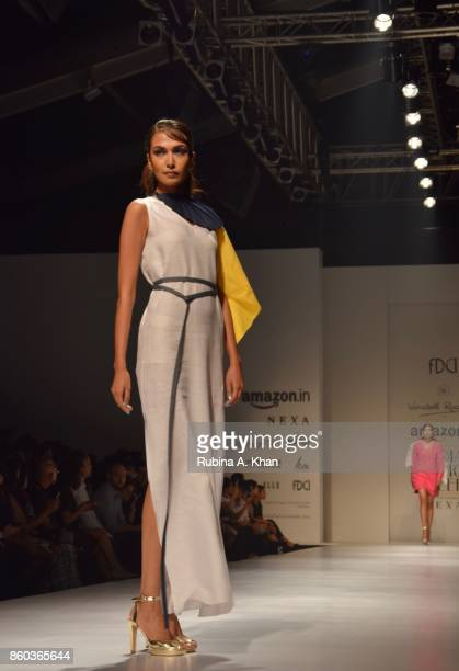The Indigofera collection by Schulen Fernandes for Wendell Rodricks' label at the Fashion Design Council of India's 30th edition of India Fashion...