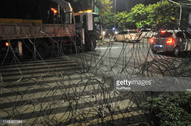 The Indonesian National Police and National Army carried out tight security as well as the installation of barbed wire and concrete barriers around...