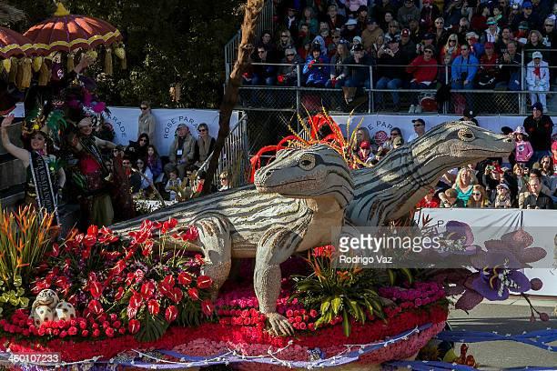 The Indonesian Tourism float attends the 125th Tournament of Roses Parade Presented by Honda on January 1 2014 in Pasadena California