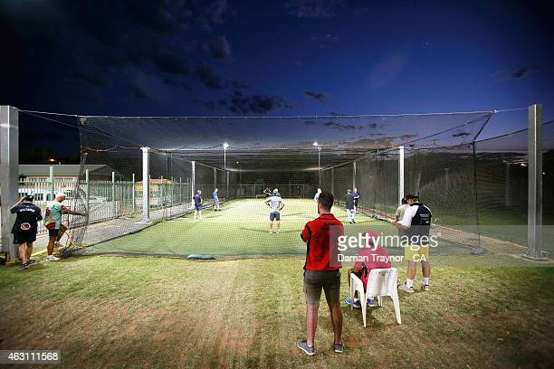 The indoor competition is played in the nets during the 20415 Imparja Cup on February 10 2015 in Alice Springs Australia