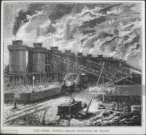The Industrial Revolution Age of Steel blast furnaces by night at a steelworks in 1874 Bessemer 's invention of the Converter changed the face of...