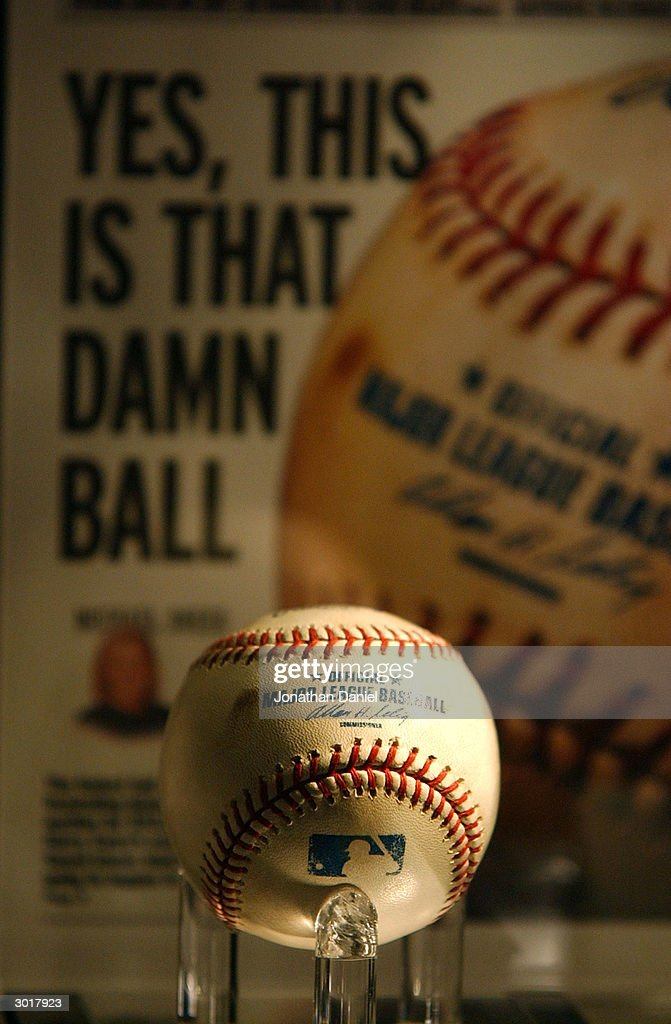 Cursed Chicago Cubs Baseball Destroyed : News Photo