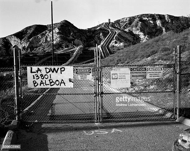 The infamous Los Angeles aqueduct which carries water from the snow rich Owens Valley to the LA area The water system was built by William...