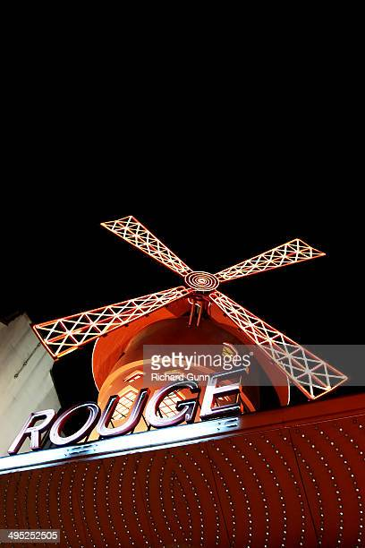 The infamous Moulin Rouge cabaret and nightclub, Boulevard de Clichy, Pigalle, Paris, France.