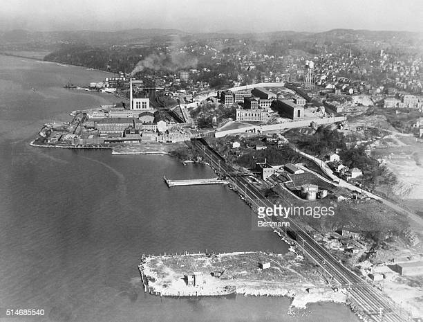The infamous Sing Sing Prison stands along the Hudson River in the town of Ossining New York