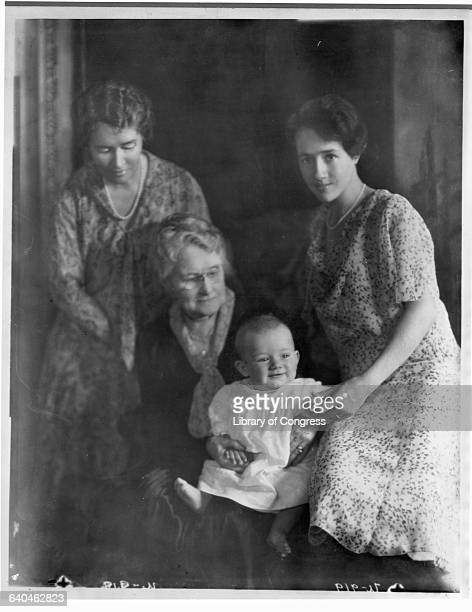 The infant Charles A Lindbergh Jr with his mother Anne Morrow Lindbergh grandmother and great grandmother The next year he would be kidnapped and...