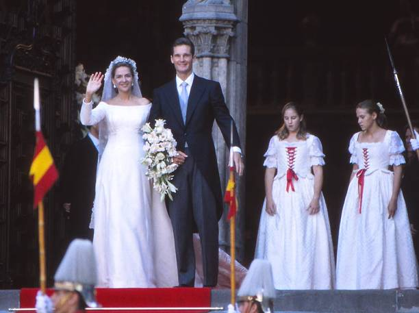The Infanta Cristina And Her Husband Inaqui Urdargarin Leave Church After Their Wedding 4th