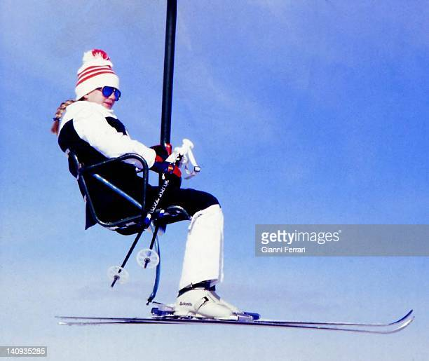 The Infanta Cristina daughter of the Spanish Kings skiing in Baqueira Beret Baqueira Beret Spain