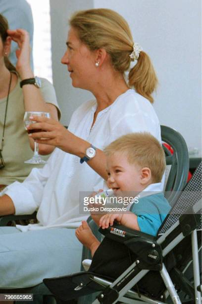 The Infanta Cristina with her son JuanValentin Urdangarin at the Royal Nautic Club