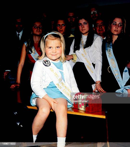 The Infanta Elena daughter of the Spanish King Juan Carlos and Sofia godmother of the School of Architecture of Madrid Madrid Spain